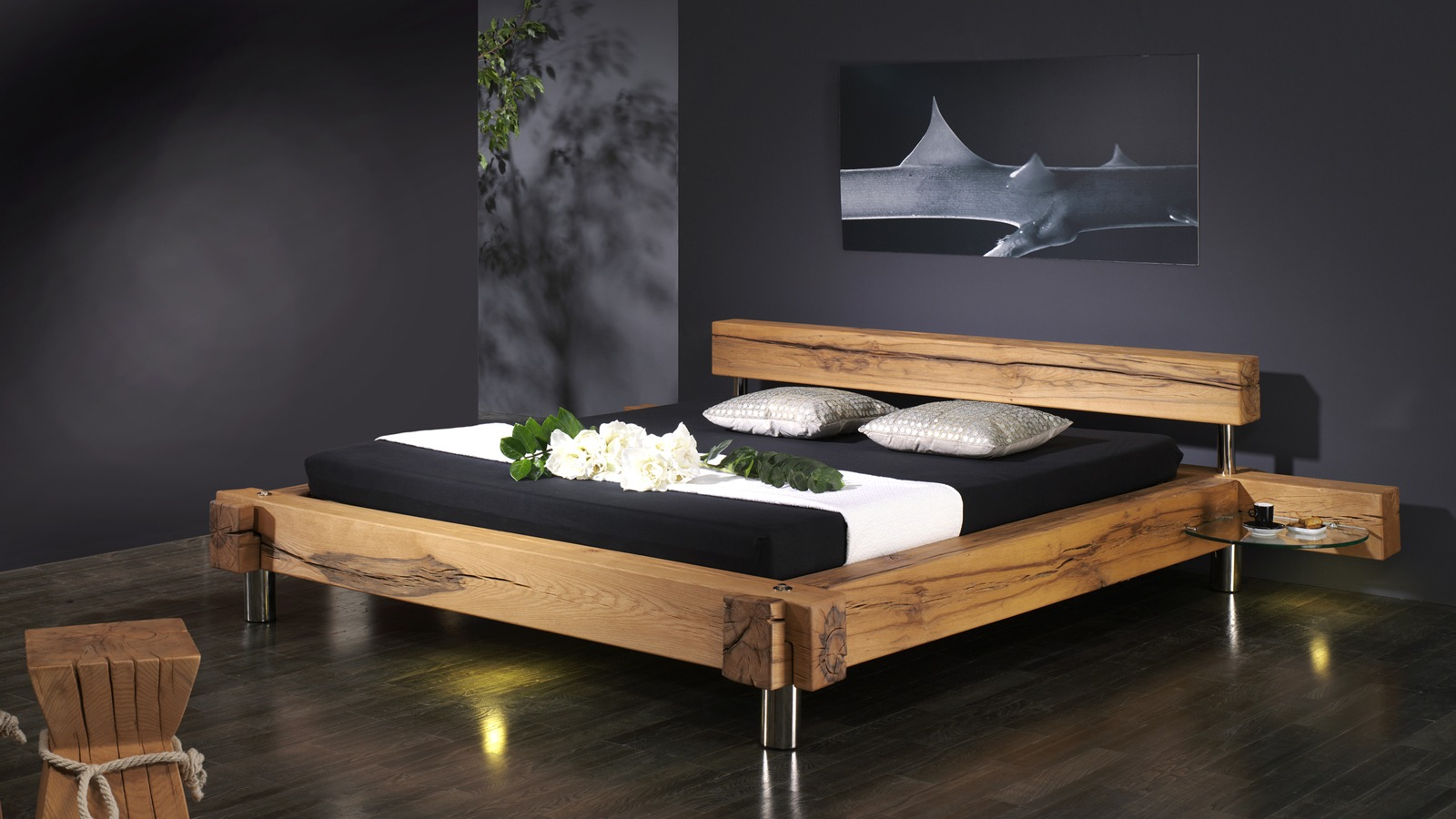 bett balkenbett ulrich wohnen. Black Bedroom Furniture Sets. Home Design Ideas