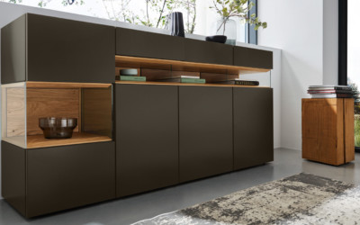 Hülsta Sideboard Lack Cacao Neo 1