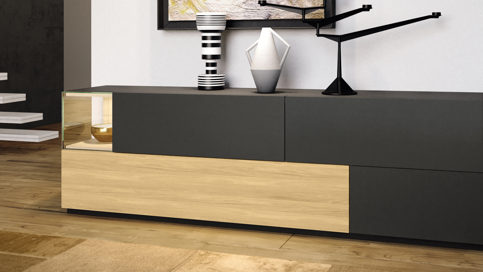 sideboard madera ulrich wohnen. Black Bedroom Furniture Sets. Home Design Ideas