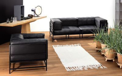 Brühl Sofa Leder Metall Schwarz Easy Pieces 1