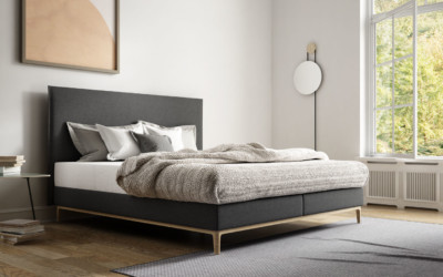 Superba Boxspring Stoff Anthrazit Flims 1