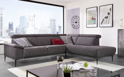 Dietsch Sofa Stoff Anthrazit Moon 1