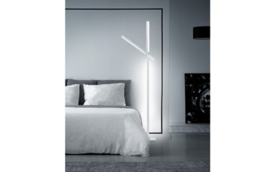 Melux Stehleuchte Metall Weiss Helestra Stay 1