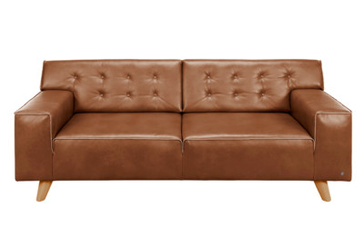 Tom Tailor Sofa Leder Hellbraun Nordic Chic 1