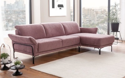 Dietsch Sofa Stoff Altrosa Planet 2